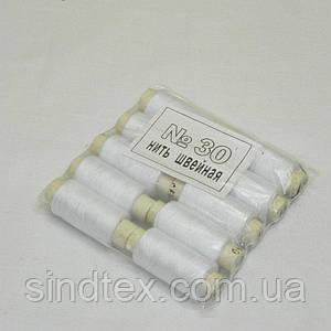 Джинсовые нитки высокой прочности 30, белые (2-2153-Л-04)