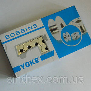 Шпульки для бытовых швейных машин 9мм/21мм металл/хром YOKE (657-Л-0125)