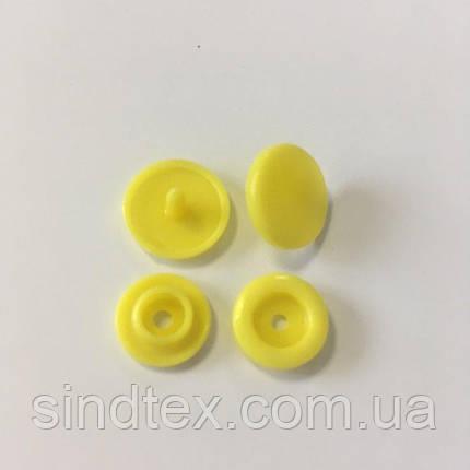 Кнопки пластиковые цветные Ø 11,7 мм Желые (100 компл.) (СИНДТЕКС-0092), фото 2