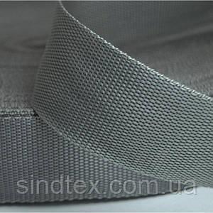 Стропа мягкая сумочная-ременная, 2,5см (бухта 50ярд. серая) (653-Т-0135)
