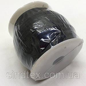Резинка для бретель, 1,2см - ЧЕРНАЯ (бобина 46м.) (653-Т-0417)