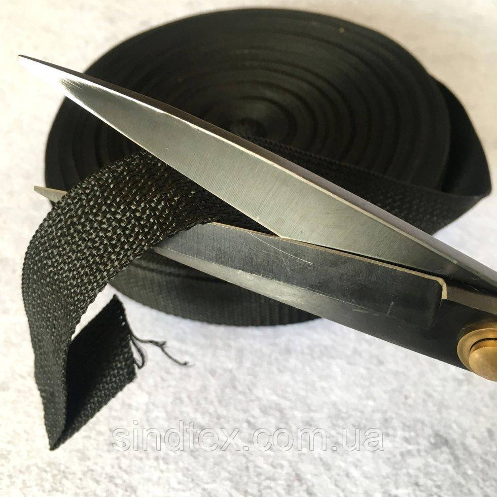 НА МЕТРАЖ Стропа сумочная-ременная (бухта 50ярд. черная) 2.5см (653-Т-06802)