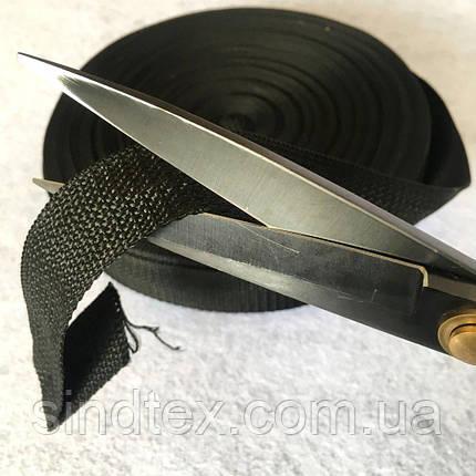 НА МЕТРАЖ Стропа сумочная-ременная (бухта 50ярд. черная) 2.5см (653-Т-06802), фото 2