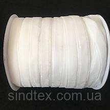 13 Бархатная лента декоративная (1см.) моток 46м., белая (657-Л-0119), фото 3