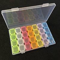 Пластиковый органайзер (контейнер) для рукоделия и фурнитуры 10,5×17,5×2,7см (657-Л-0564)