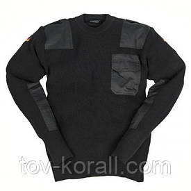Свитер армейский шерстяной Mil-Tec черный