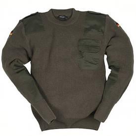 Свитер армейский шерстяной Mil-Tec олива