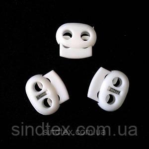 Фиксатор для шнура пластиковый, белый (ИР-012)