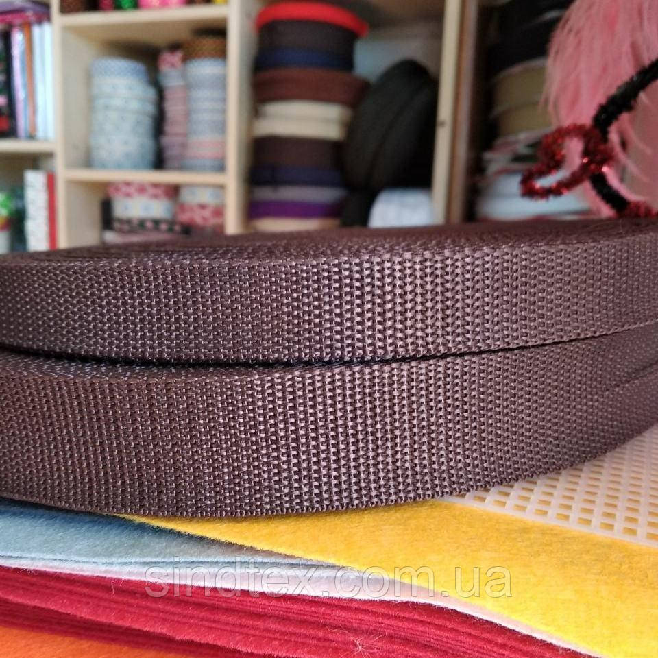 Стропа, цвет шоколадный, ширина 2 см., длина 50 ярд. (653-Т-0009)