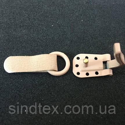 Поштучно: Оригинальные шубные крючки Польша KESKA бежевые (653-Т-0458), фото 2