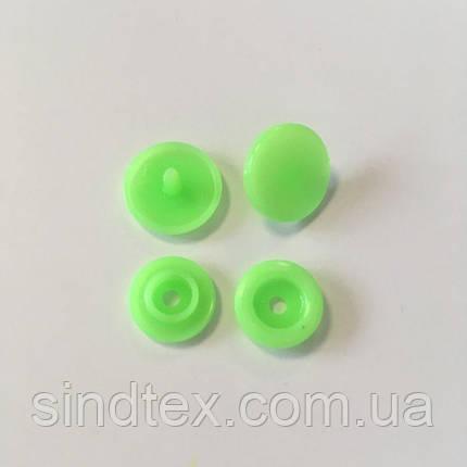 Кнопки пластиковые цветные Ø 11,7 мм Салат (100 компл.) (СИНДТЕКС-0091), фото 2