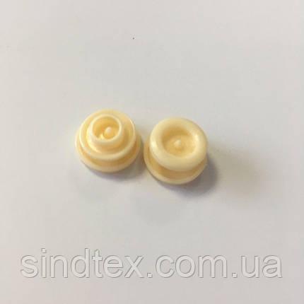 Кнопки пластиковые цветные Ø 11,7 мм Персик (100 компл.) (СИНДТЕКС-0093), фото 2