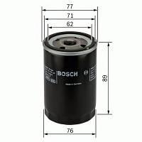 Фильтр масляный ГАЗ 3110, Волга (дв. TOYOTA) (Bosch). 0 986 452 044