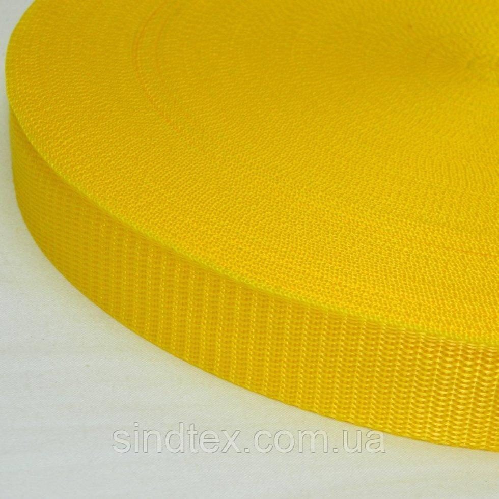 03 - Жовта тасьма сумочная-ремінна, 3см (657-Л-0587)
