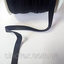 Гумка для бретель, 1см - ЧОРНА (бобіна 46м.) (653-Т-0637), фото 3