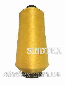 Нить текстурированная некруч 100% PE 150D/1 цв S-001 желтый (боб 15000ярд/60 боб) VERITAS (ex. NITEX), (ВЕЛЛ-001)