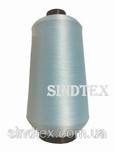 Нить текстурированная некруч 100% PE 150D/1 цв S-026 голубой светлый (боб 15000ярд/60 боб) VERITAS (ex. NITEX), боб (ВЕЛ