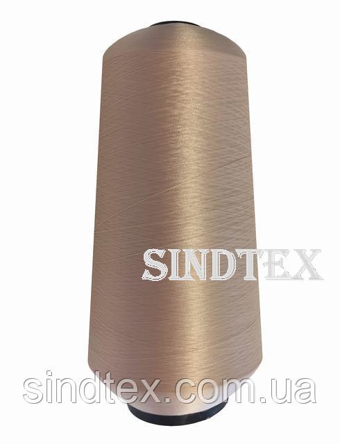 Нитка текстурована некруч 100% PE 150D/1 цв S-098 бежевий брудний (боб 15000ярд/60 боб) VERITAS (ex. NITEX),