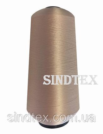 Нитка текстурована некруч 100% PE 150D/1 цв S-098 бежевий брудний (боб 15000ярд/60 боб) VERITAS (ex. NITEX),, фото 2