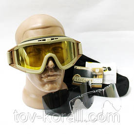 Тактические очки маска Revision DESERT LOCUST 3 линзы
