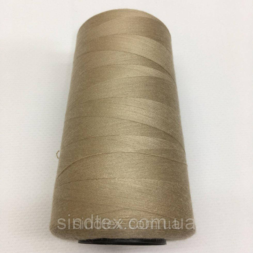 Нить швейная 100% PE 40/2 цв S-128 бежевый грязный (боб 4000ярдов) NITEX (ВЕЛЛS-128)