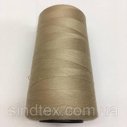 Нить швейная 100% PE 40/2 цв S-128 бежевый грязный (боб 4000ярдов) NITEX (ВЕЛЛS-128), фото 2