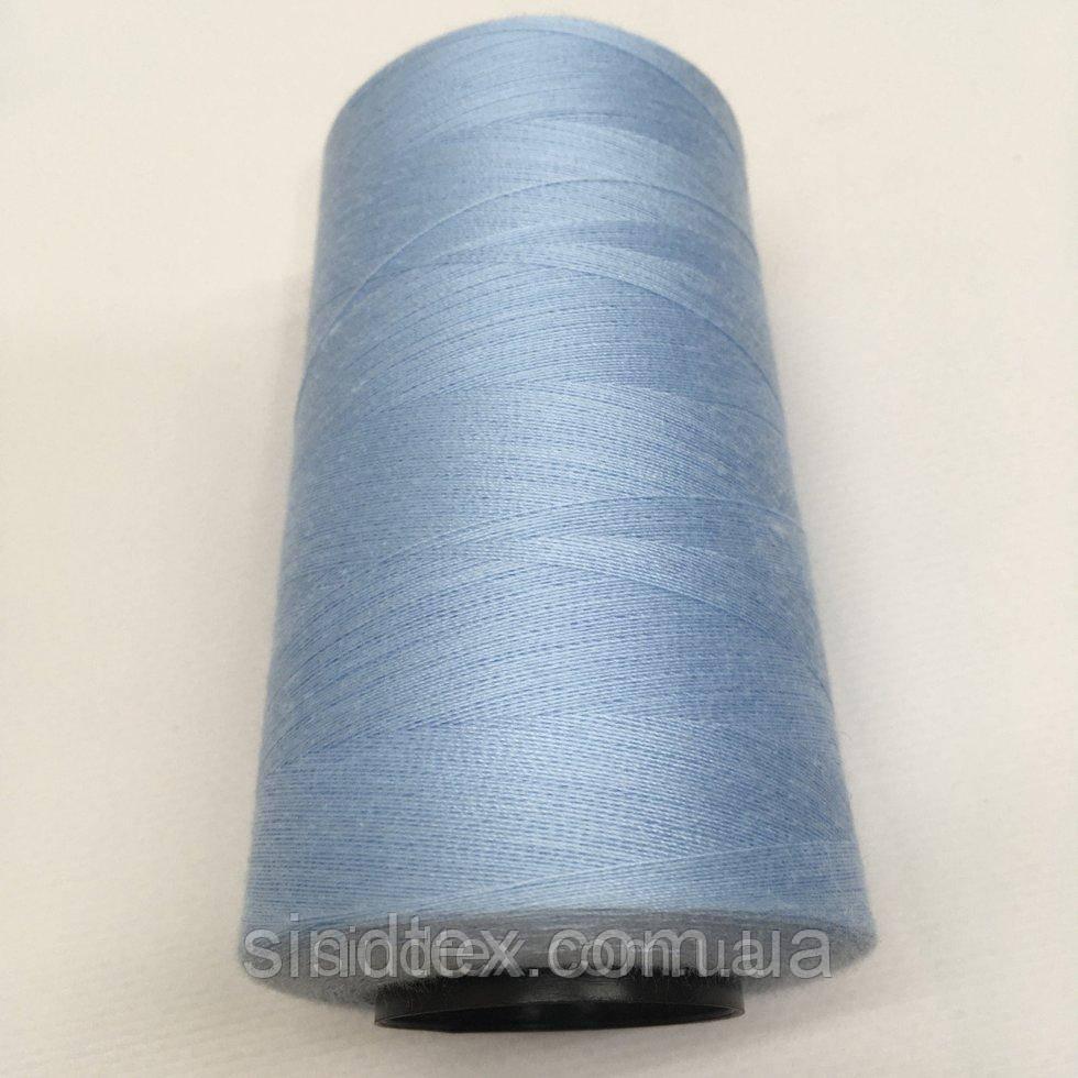 Нить швейная 100% PE 40/2 цв S-351 голубой светлый (боб 4000ярдов) NITEX (ВЕЛЛS-351)