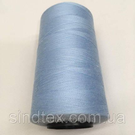 Нить швейная 100% PE 40/2 цв S-351 голубой светлый (боб 4000ярдов) NITEX (ВЕЛЛS-351), фото 2