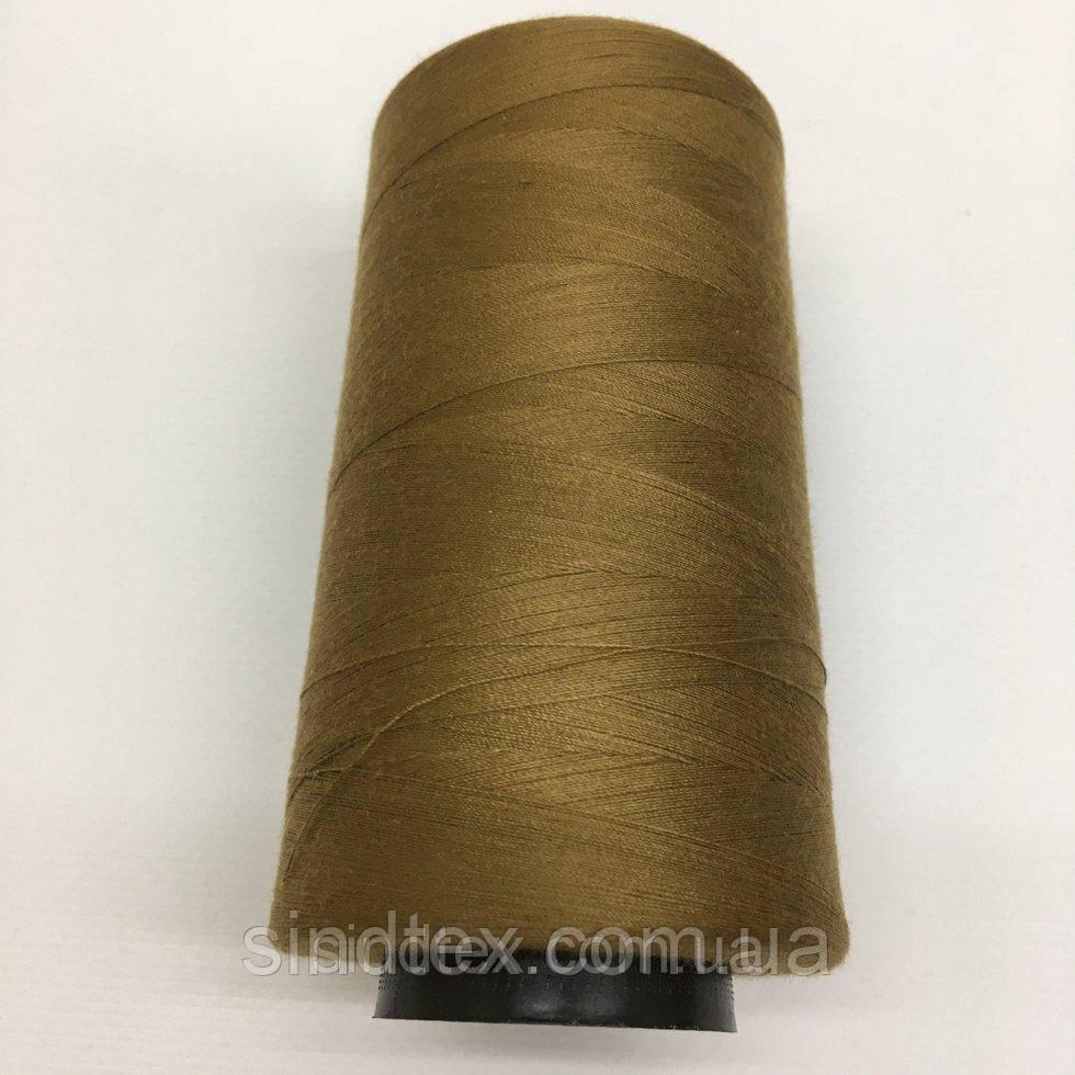 Нить швейная 100% PE 40/2 цв S-858 коричневый светлый (боб 4000ярдов) NITEX (ВЕЛЛS-858)