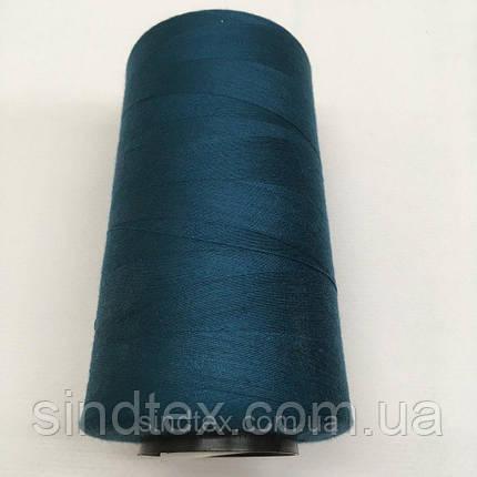 Нить швейная 100% PE 40/2 цв S-908 синий грязный (боб 4000ярдов) NITEX (ВЕЛЛS-908), фото 2