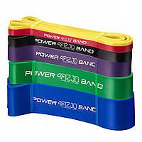 Еспандер-петля (резинка для фітнесу і спорту) 4FIZJO Power Band 6 шт 2-46 кг 4FJ0064