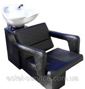 Парикмахерская мойка ЧИП с креслом ФЛАМИНГО кришка пластик