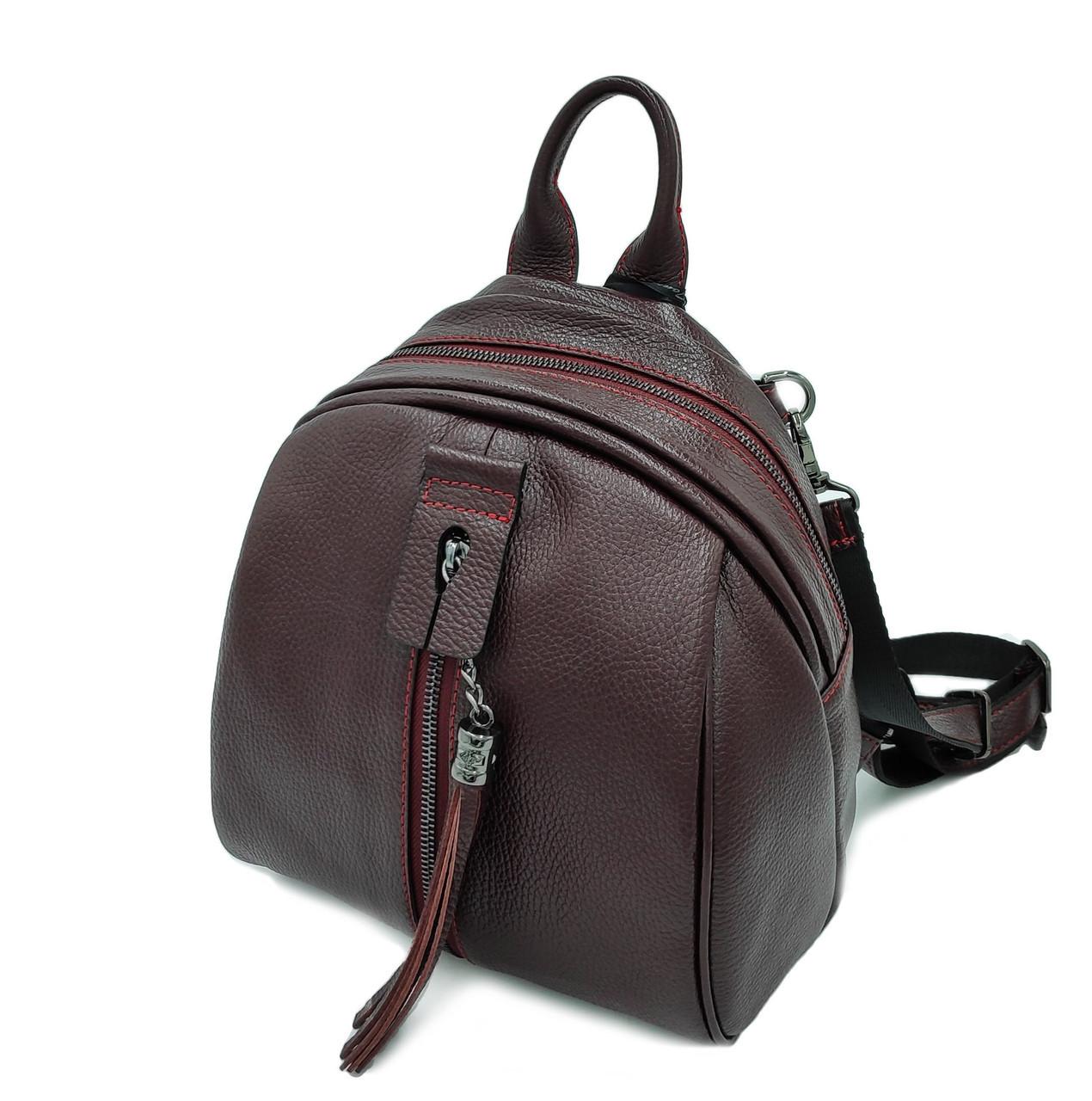 Рюкзак, кожа натуральная, бордовый флотар S-0-175 Tony Bellucci