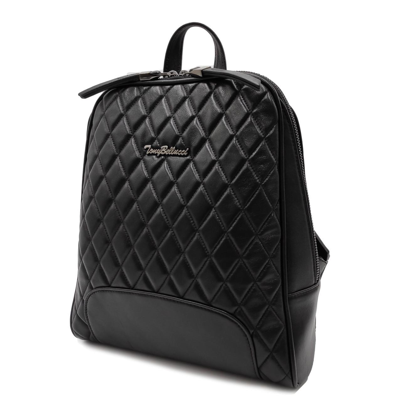 Рюкзак кожа натуральная черная лайка S-0-135 Tony Bellucci