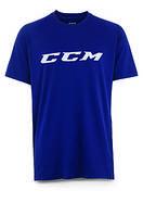Футболка CCM Training Tee Navy JR детская, Размер 150, темно-синий, Tee-Navy-JR-150