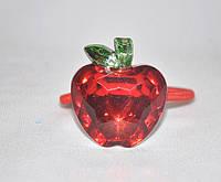Резинка для волос -  яблоко из прозрачного камня (12шт), фото 1