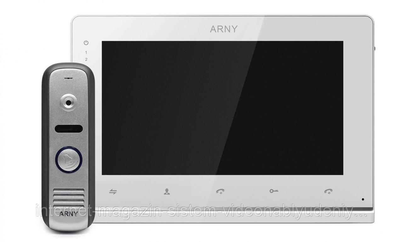 Комплект домофона ARNY AVD-7152 с датчиком движения белый/серый (arny-000117)