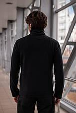 Мужская флисовая кофта на молнии Intruder черная, фото 2