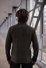 Мужская флисовая кофта на молнии Intruder хаки, фото 2