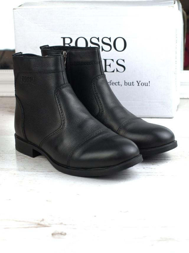 Челсі черевики зимові чоловічі класичні Rosso Avangard Danni Graphite Black чорні
