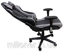 Кресло геймерское Bonro 2011-А серое, фото 2