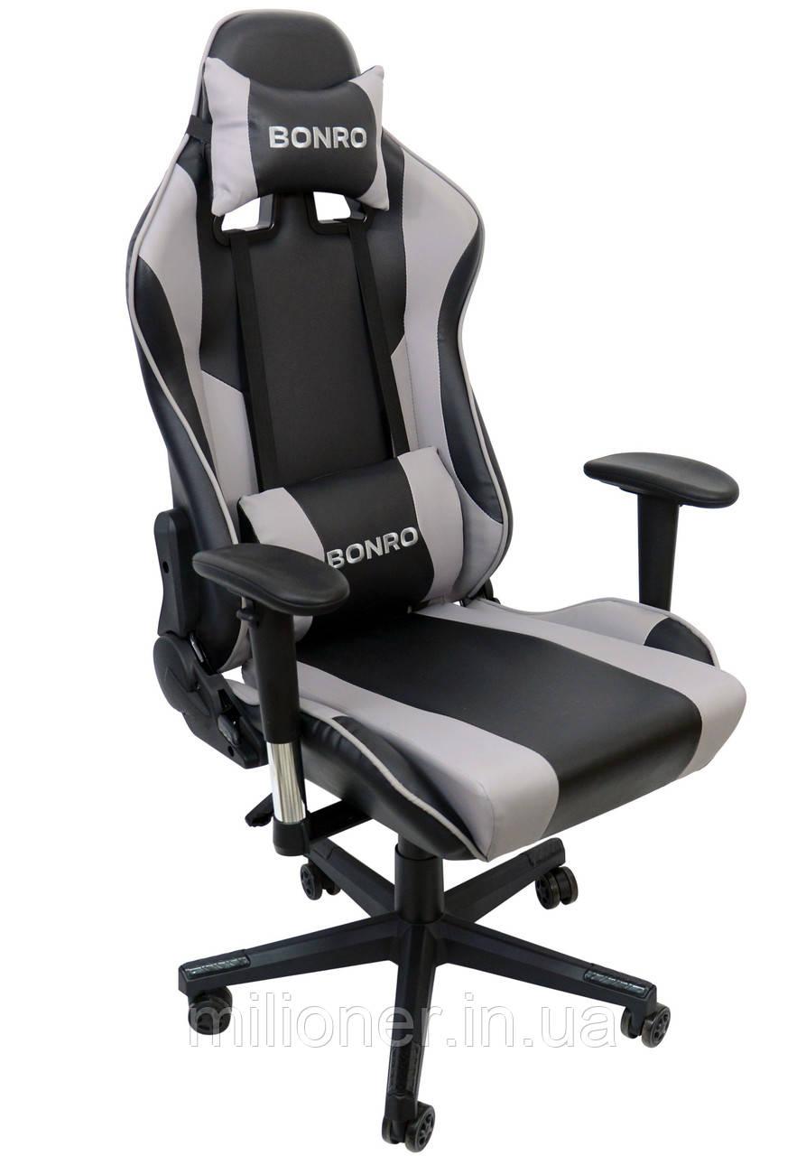 Кресло геймерское Bonro 2011-А серое