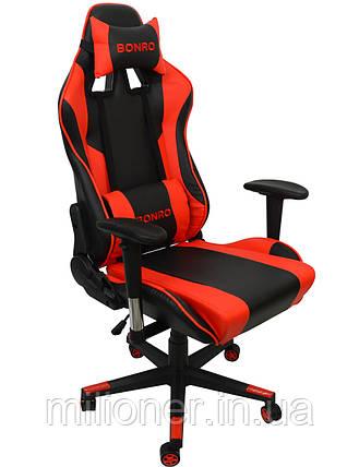 Крісло геймерське Bonro 2011-А червоне, фото 2