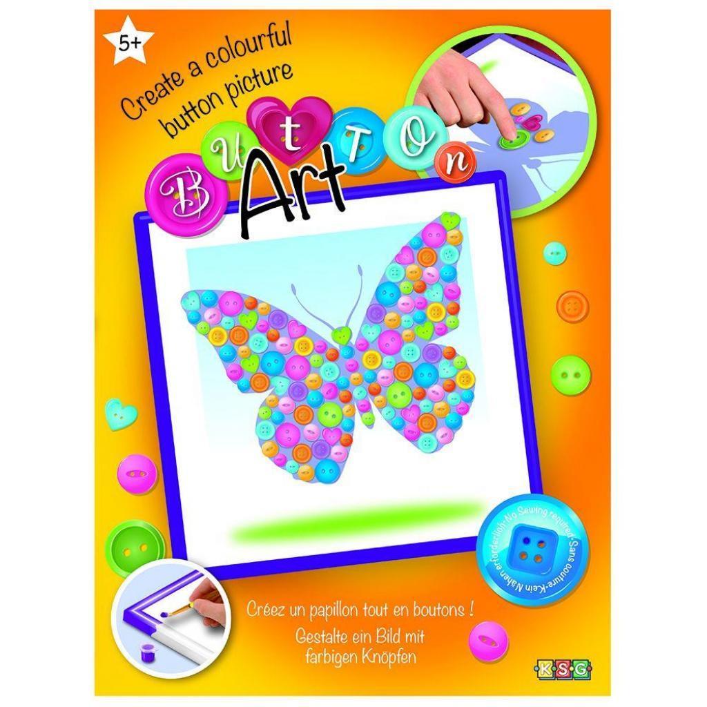 Набор для творчества Sequin Art BUTTON Butterfly (SA1528)
