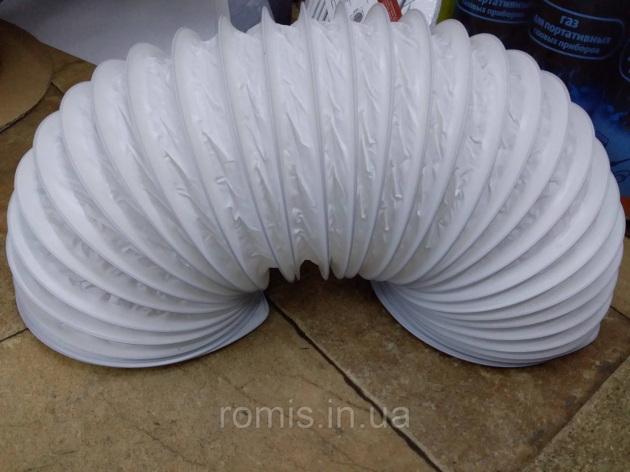 Воздуховод гибкий армированный ПВХ 150 мм. L=2 м