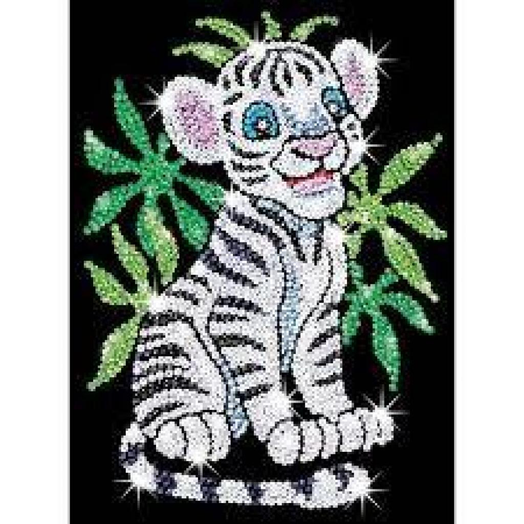 Набор для творчества Sequin Art RED Toby the White Tiger Cub (SA0906)