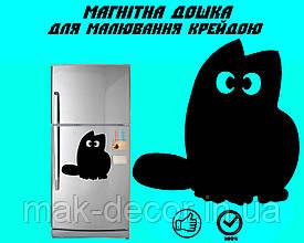 Магнитная доска на холодильник Кот Саймона с хвостом L  (25х30см)