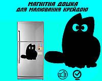 Магнитная доска на холодильник Кот Саймона с хвостом XXL (45х45см)