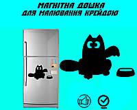"""Магнітна дошка на холодильник """"Кіт Саймона з мискою"""" XL (31х40см), фото 1"""