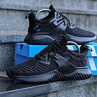 Кроссовки Adidas Alphabounce Instinct Black мужские, Адидас Альфабонус, текстиль, код DK-1113